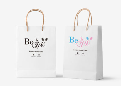 Diseño de bolsas de papel - BeMe Store