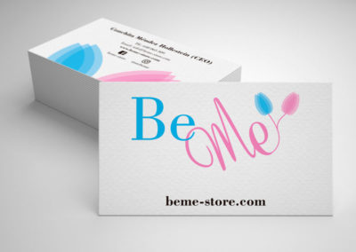 Diseño de tarjetas de visita - BeMe Store